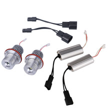 2 шт. 10 Вт светодиодный Ангельские глазки для BMW E39 6500 К белый светодиодный свет лампы для BMW E39 E53 e60 E61 E63 E64 E65 E66 E83 E87