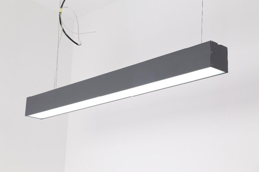 Frais de port gratuits pendentif LED lumière, barre LED linéaire de bureau, faisceau lumineux linéaire LED suspendu 600/900/1200/1500mm
