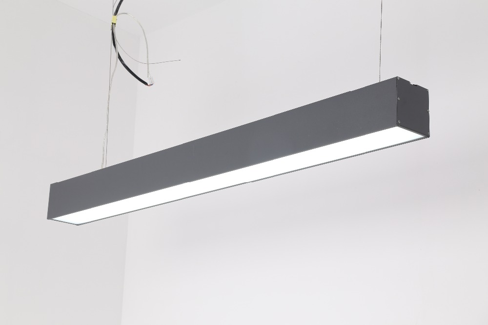 Free Shipping Cost led pendant light, office linear led light, suspended led linear light 600/900/1200/1500mm цена и фото