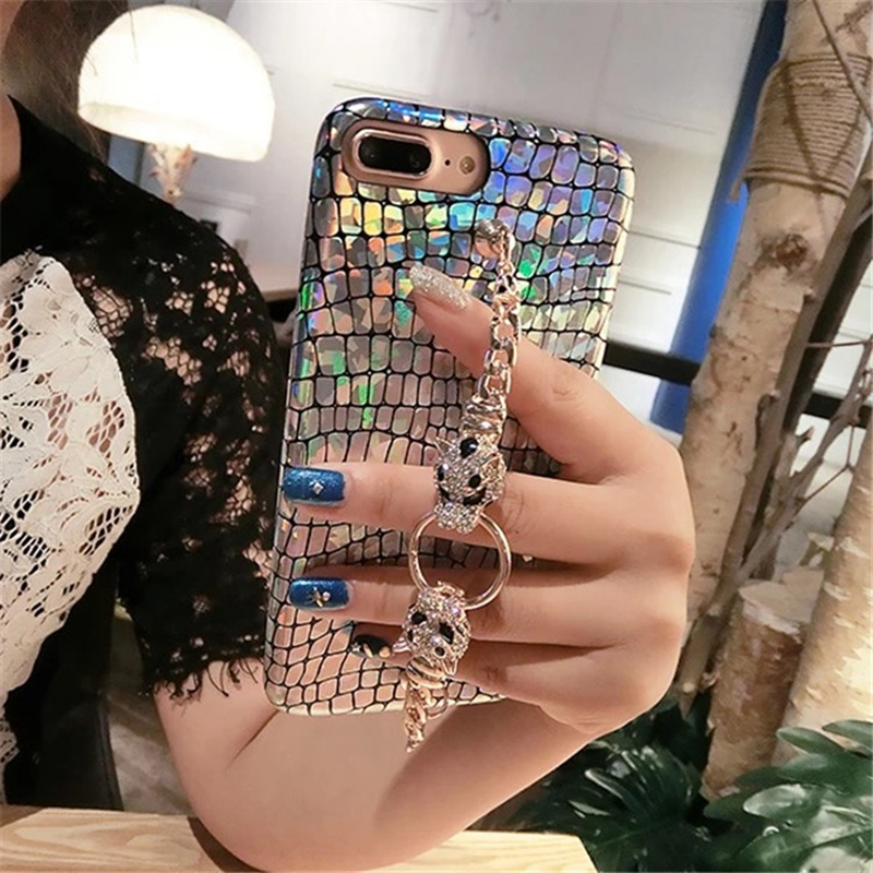 HOCAYU Cheap Fancy Bling Glitter Mobile Phone Case for Iphone X 7 8 6 PLUS Laser TPU Soft Back Cover Capa Fantasia Drop Shipping in Half wrapped Cases from Cellphones Telecommunications