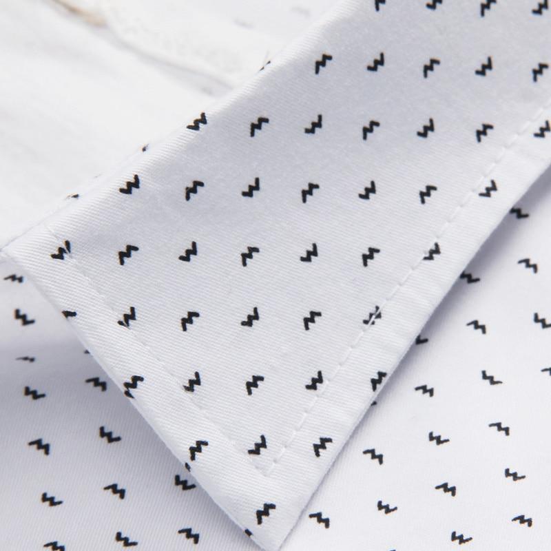 NYE Mænd Casual Shirt Fashion Slim Dot shirts Langærmet skjorte - Herretøj - Foto 4