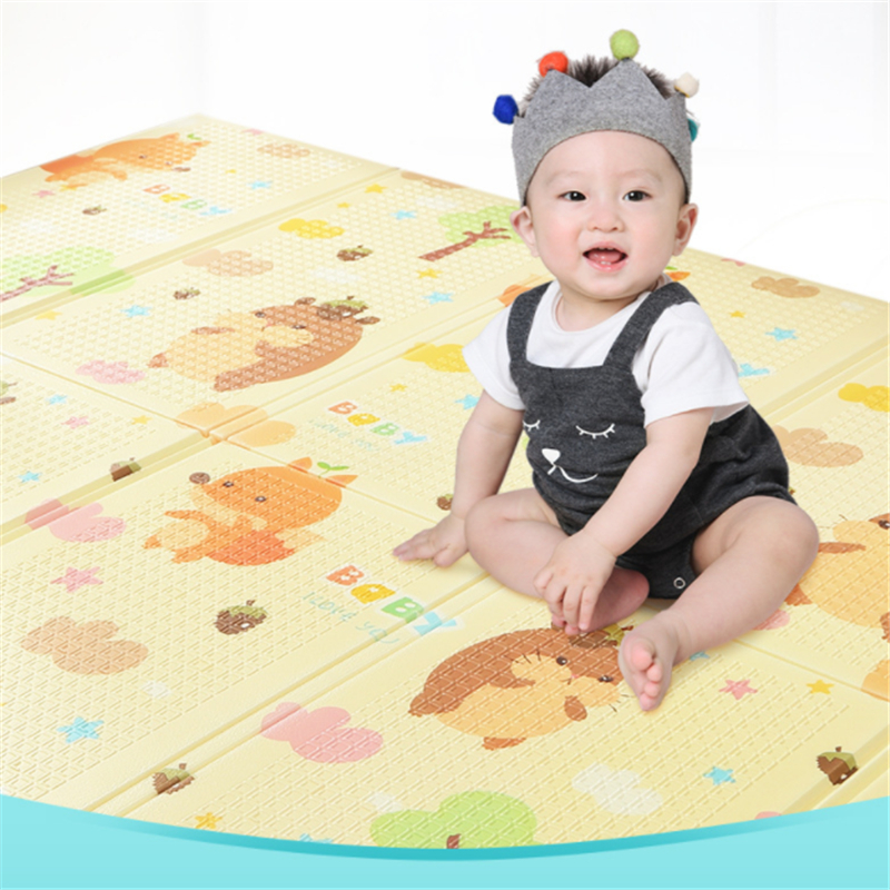 Baby Crawling Mat Thick Double-sided Environmentally Friendly Baby Child Climbing Mat Living Room Home Odorless Folding Splicing