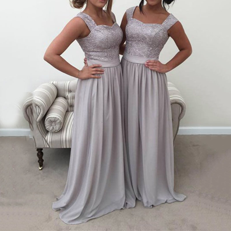 New Arrival Cap Sleeve Long   Bridesmaid     Dresses   2018 Lace Appliques Party Gowns Vestido De Festa De Formal Prom   Dress   Custom Made