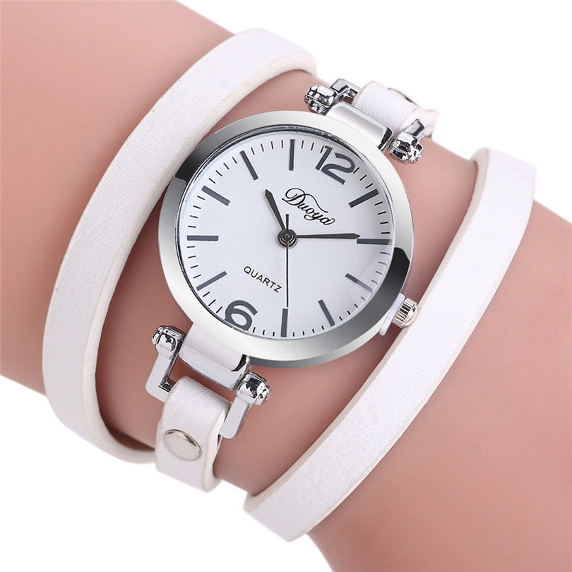 все цены на Fashion Casual Quartz Women Quartz Wristwatches Leather Bracelet Watch Gift Relogio Feminino Gift wholesale Free shipping 39J
