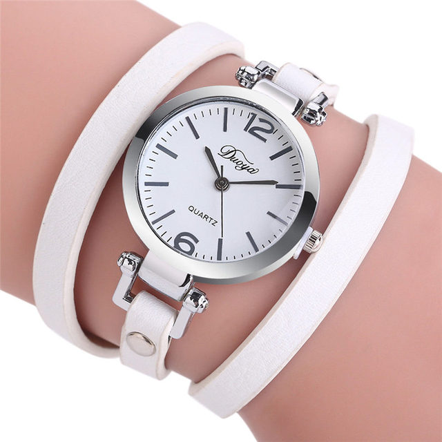 Fashion Casual Quartz Women Quartz Wristwatches Leather Bracelet Watch Gift Relo