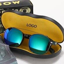 Johnny Depp Glasses Clip On Sunglasses Polarized Lens Men Green Acetate Optical Frame Women Brand Design Top quality 082
