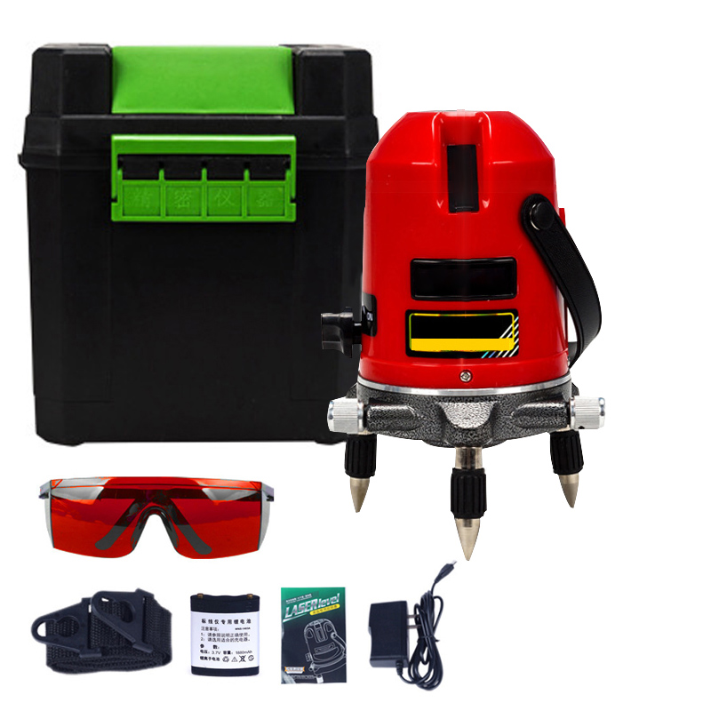 5 Lines 6 Points Laser Level Powerful Red Beam Line Laser Self-Leveling 360 degree 635nm Rotary laser Level Meter aculine ak436 360 degree rotating red beam self leveling cross laser line lightspot