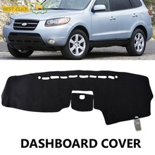 Fit For 2007 2008 2009 2010 2011 2012 Hyundai Santa Fe Dashboard Cover Dashmat Dash Mat Sun Shade Dash Board Cover Carpet(China)