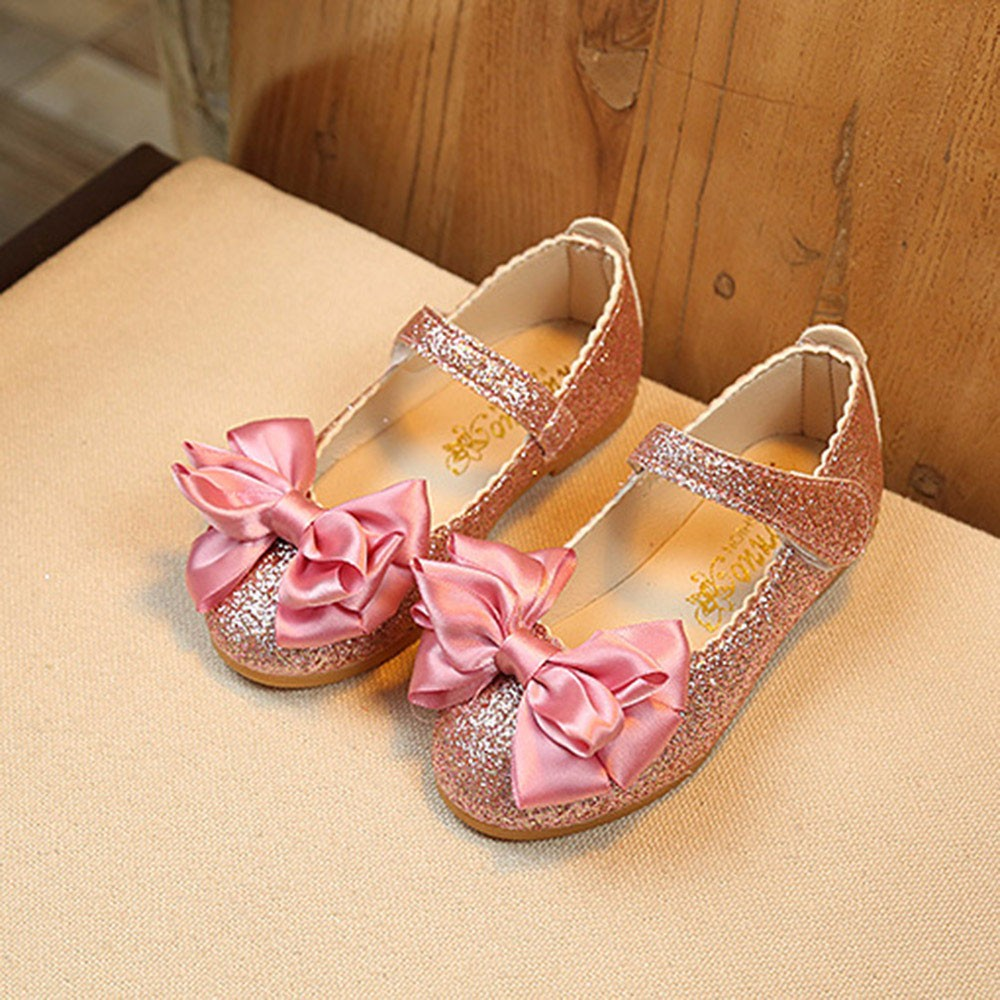 ROMIRUS Children Girl New Spring Autumn Fashion Princess Bowknot Dance Shoes Nubuck Leather Single Shoes For Baby Girls Kids 15 ...