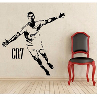 2017 New Sports Soccer Kids Room Decor CR7 Celebrating Posters Vinyl Cut Wall Decals Cristiano Ronaldo