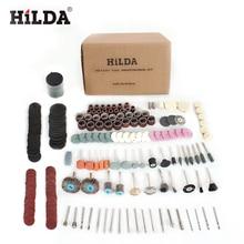 HILDA 248 adet döner alet aksesuarları kolay kesme taşlama zımpara oyma ve parlatma aracı kombinasyonu Hilda Dremel