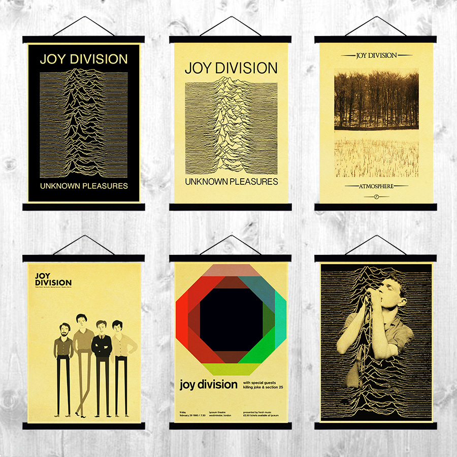 British post punk band Joy Division Posters Kraft Paper Prined ...