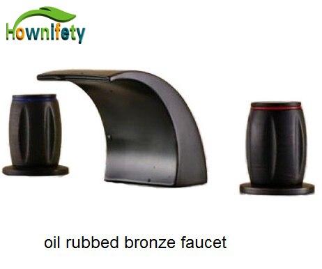 Oil Rubbed Bronze Dual Handles Basin Faucet Vessel Sink Tap Mixer Faucet все цены