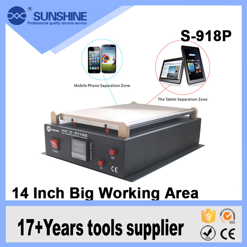New S 918P 14 Inch Large Heating Plate Lcd Separator Touch Screen Glass For Mobile Repair