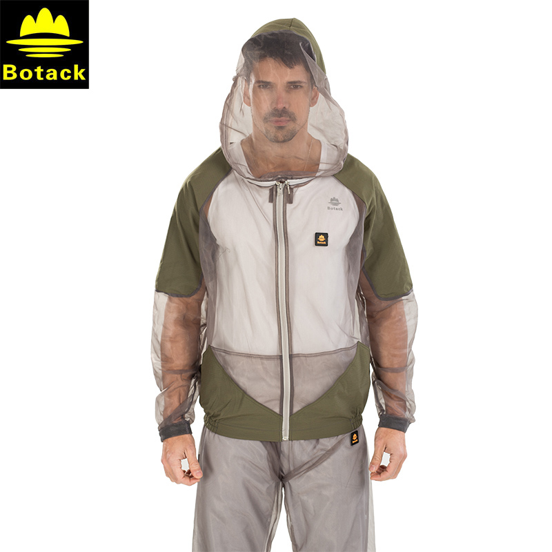 Outdoor sport fishing clothes Anti mosquito set men camping quick dry breathable with Hooded net mesh prevent jacket pants suit men s anti uv quick dry fishing suit outdoor clothing with mask