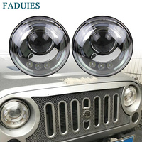 FADUIES 7 Inch Round H/Low Beam LED Headlight For Lada 4x4 urban Niva For Jeep Wngler Hummer Land rover defender