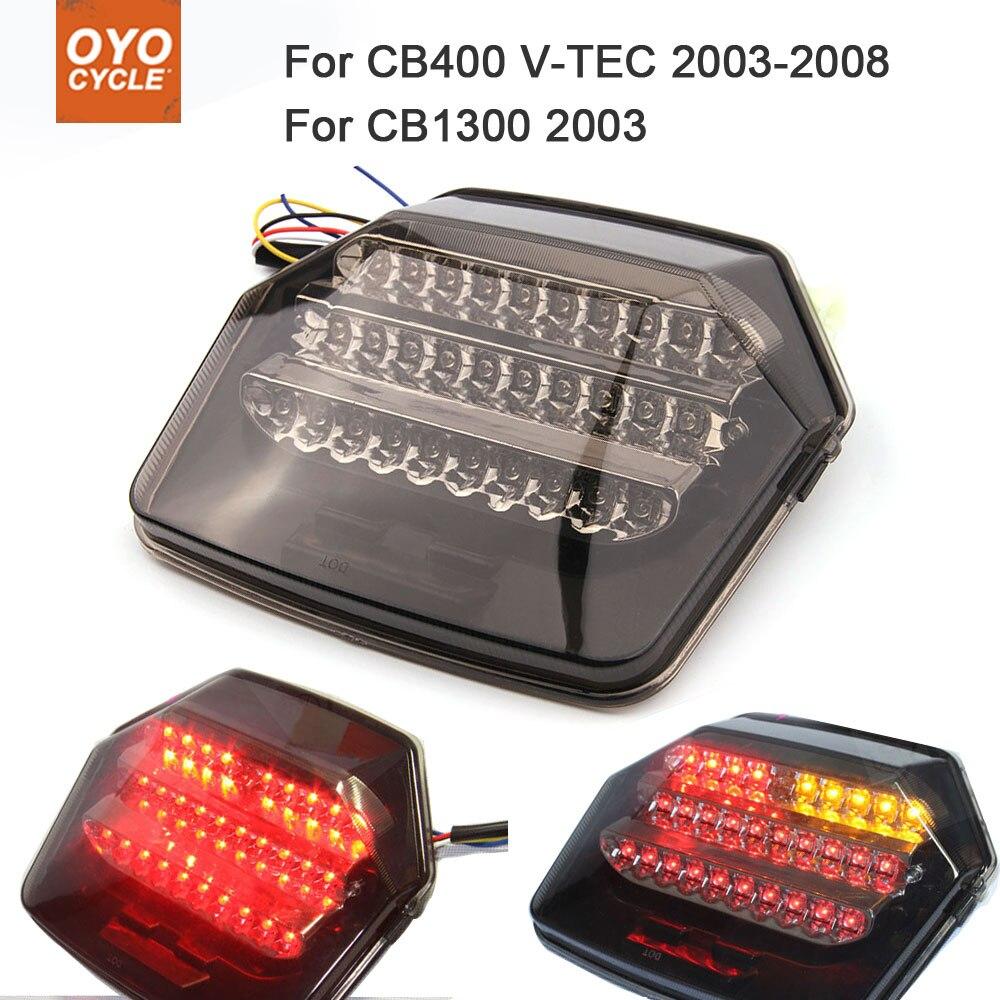 Motorcycle Integrated LED Tail Light Brake Turn Signal Blinker For  Honda CB400 V-TEC 2003-2008 CB1300