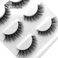 Wholesale 50box False Eyelashes Makeup 3D Mink Lashes Eyelash Extension Cross Mink Eyelashes Faux Cils Maquiagem Cilios