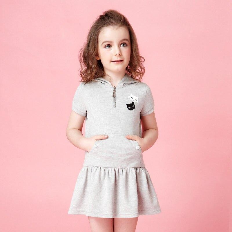 2017 filles robe sport actif Style mode robe à volants enfants mode soeurs vêtements Summr choses pour Age2345678 ans