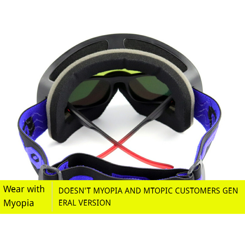 4930239b0ad 2019 Lens Magnetic Ski Goggles Double Anti Fog Large Cylinder Ski ...
