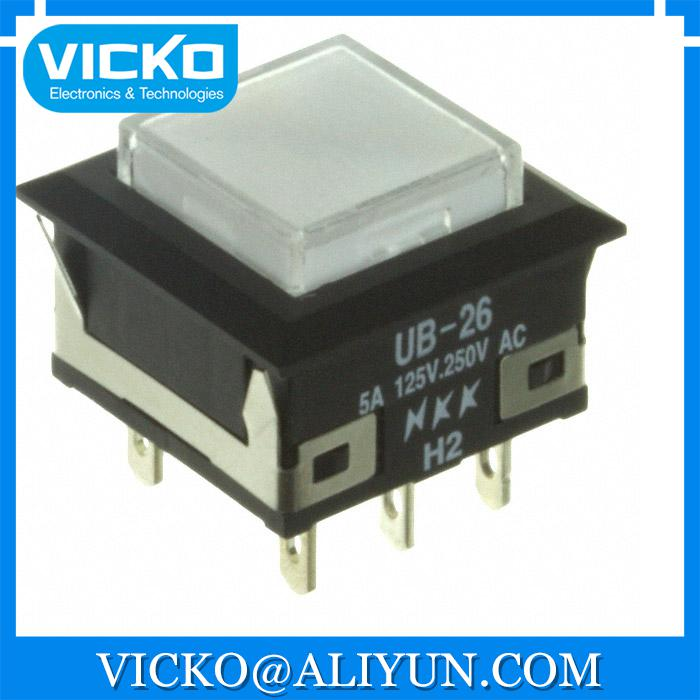 [VK] UB26KKW016B-JB SWITCH PUSHBUTTON DPDT 5A 125V SWITCH [vk] av044746a200k switch pushbutton dpdt 6a 125v switch