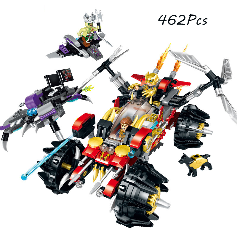 Models building toy Enlighten 2213 462pcs Creation of the Gods DEMON BLADE TRUCK Building Blocks compatible with lego toys