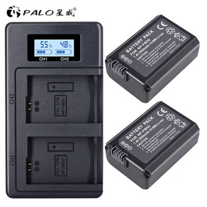 Image 1 - PALO 2pcs 2000mAh NP FW50 NP FW50 Camera Battery + LCD USB Dual Charger for Sony Alpha a6500 a6300 a6000 a5000 a3000 NEX 3 a7R