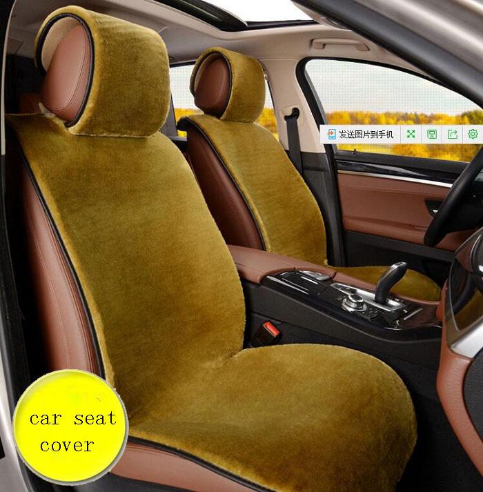 Автомобиль переднего сиденья Универсальный Fit внедорожник седанов из искусственного меха теплые мягкие WH