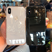 Voor IPhone X XR XS Max Clear TPU Gevallen Siliconen Beschermhoes Cover Transparant Soft Case voor Iphone 8 7 6 6s Plus 4 4S 5 5S(China)