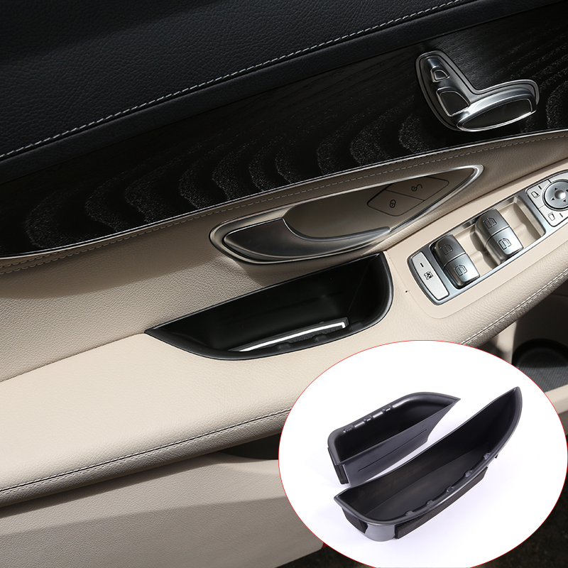 For Mercedes Benz W205 C-Class GLC C180 C200 C260 2015-2016 Door Handle Storage Box Tray Accessories Car-Styling For LHD car center console dashboard speaker cover protection cover trim for mercedes benz c class w205 c180 c200 c260 glc class x253