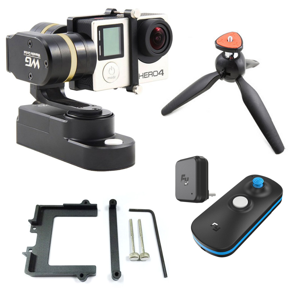 Feiyu FY WG 3 axle Wearable Gimbal Brushless Steady Stabilizer for Gopro Hero LCD Extend Yi SJ AEE Camera Remote control F15627 feiyu tech fy wg 3 axis wearable camera brushless gimbal stabilizer for gopro hero 3 3 4 lcd touch bacpac