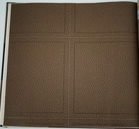 สีน้ำตาลหนังพีวีซีวอลล์เปเปอร์ที่มีการตกแต่งที่ทันสมัยไวนิลpara paredeกระดาษde parede 3d paraศาลาa tacadoทีวี...