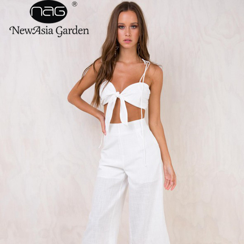 NewAsia Garden Summer Beach Bow Woven Tape Ladies Woman Casual   Tops   Plain V-Neck Sleeveless Tie Front Ribbed Crop   Tank     Top   2018