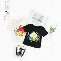 Hot Sale White Cotton T Shirt Kids Brand Design Fruit Print T shirts Fashion Baby Boy Short Sleeve O neck Top Clothing
