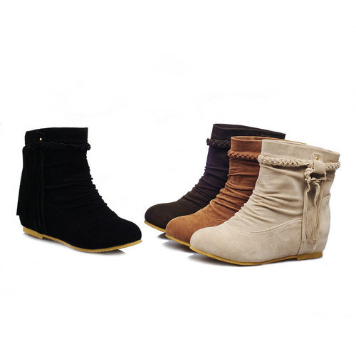Aliexpress.com : Buy Simple lazy folds flat heel ankle boots woman ...
