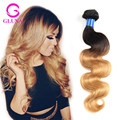 4Pcs Brazilian ombre Hair Body Wave 1b/27 Ombre Human Hair 8A Virgin Human Hair Ombre Wavy Hair Bundles 10-30 Inches Two Tone