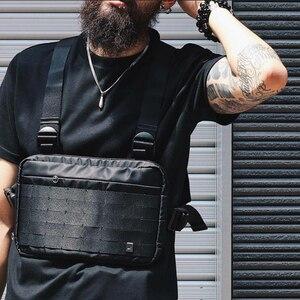 Image 1 - Mannen borst rig hip hop streetwear borst zak Vest Voor Mannen schoudertas Militaire Tactische Tactische Reizen Taille zakken Taille packs