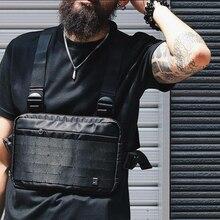 ผู้ชาย RIG hip hop streetwear กระเป๋าสำหรับชายกระเป๋าสะพายกระเป๋าทหารยุทธวิธียุทธวิธีเอวกระเป๋าเอวแพ็ค