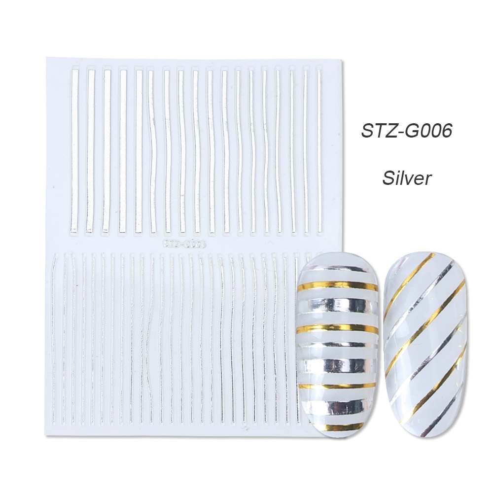 gold silver 3D stickers STZ-G006 Silver