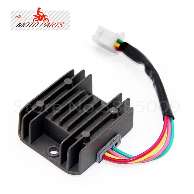 US $5 78 32% OFF|4 Wires 12V Voltage Regulator Rectifier ATV GY6 50 150cc  Scooter Moped JCL NST TAOTAO barretter-in Motorcycle Switches from
