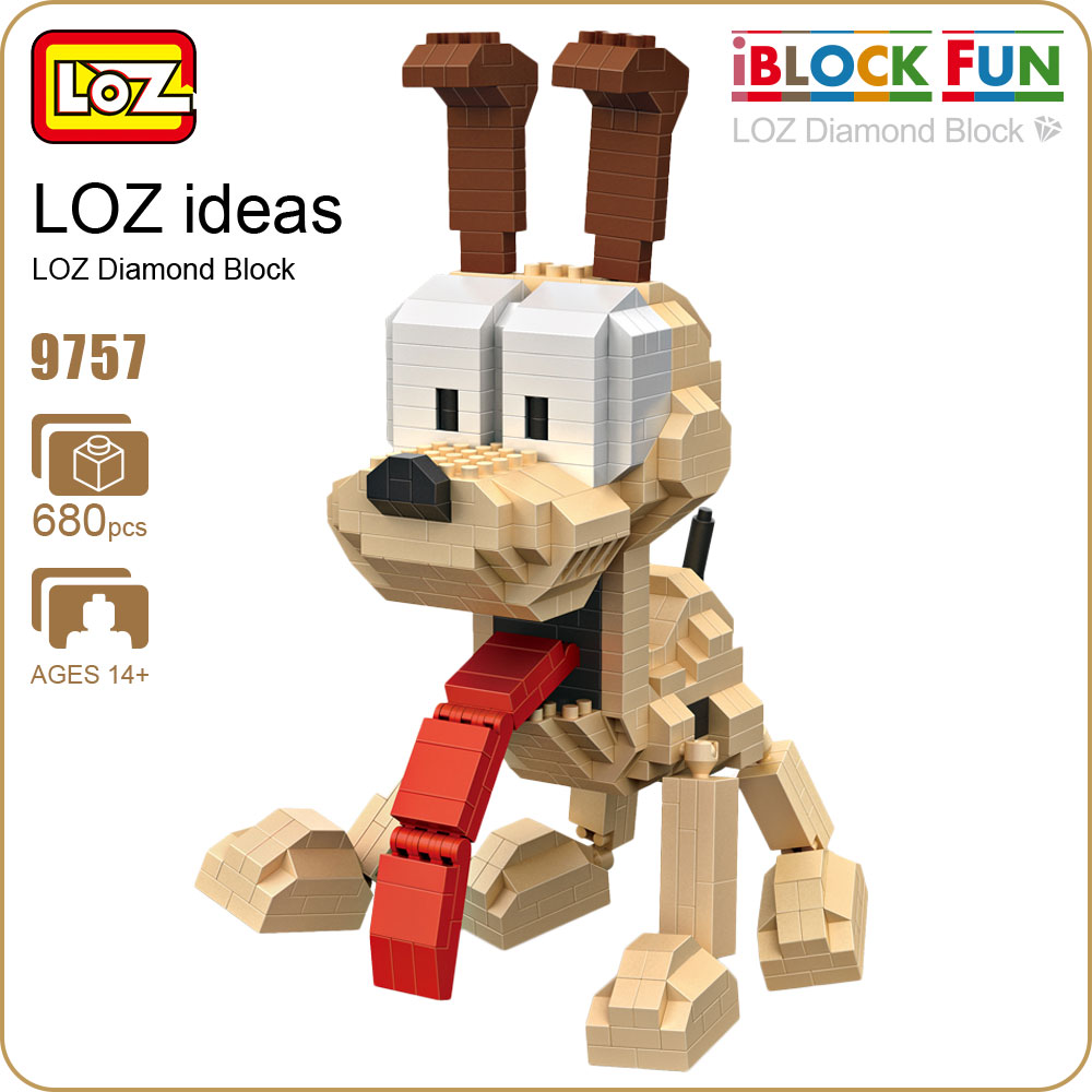 LOZ Diamond Blocks Education Dog Cat Cute Cartoon Animals Toys For Children Building Blocks Figures DIY Funny Micro Bricks 9757 loz diamond blocks figuras classic anime figures toys captain football player blocks i block fun toys ideas nano bricks 9548