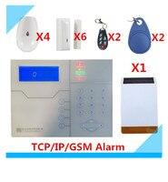 Voice Prompt Wireless GSM TCP IP Alarm System Home Smart Alarm System Burglar Security Alarm System