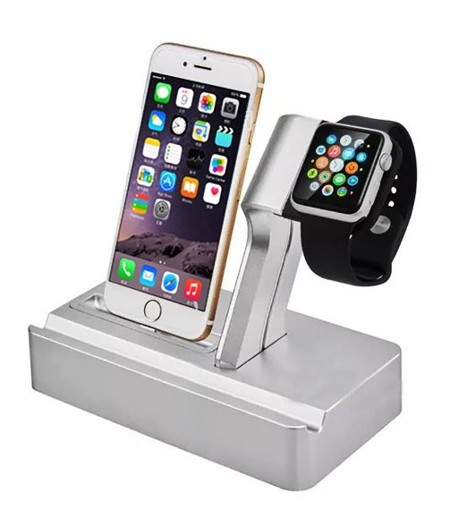 2016 Apple's mobile phone watches exclusive high-end plastic three rechargeable stent cradle bracket for apple watch Accessories