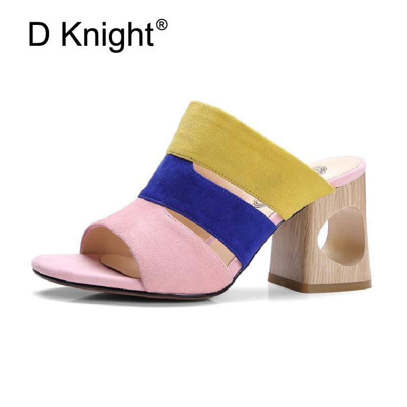 Women Sandals Genuine Leather Mules Summer High Heels Platform Shoes Woman Slippers Slip On Slides Pumps Fashion Women Shoe 2018 2015 new big size sexy high heel slipper women fashion woman slippers summer platform slides brand soft pu slip on lady slippers page 1