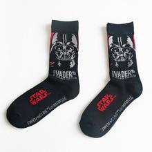 Мультфильм star wars модели хорошее качество хлопчатобумажные носки спортивные носки мужчины/женщины черный марка спортивные носки
