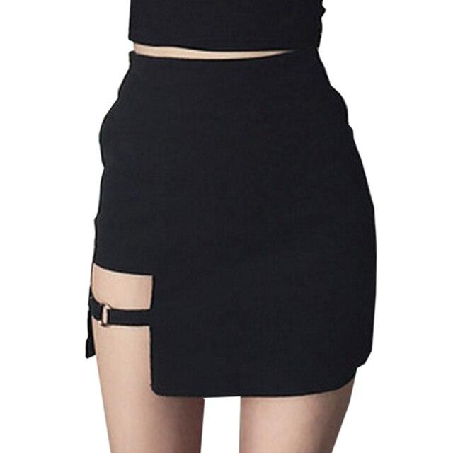 55c09d7b22 Dominate Asymmetric Skirt - Sexy Lady Asymmetrical Skirt High Waist Gothic  Punk Dance Clubwear Short Mini