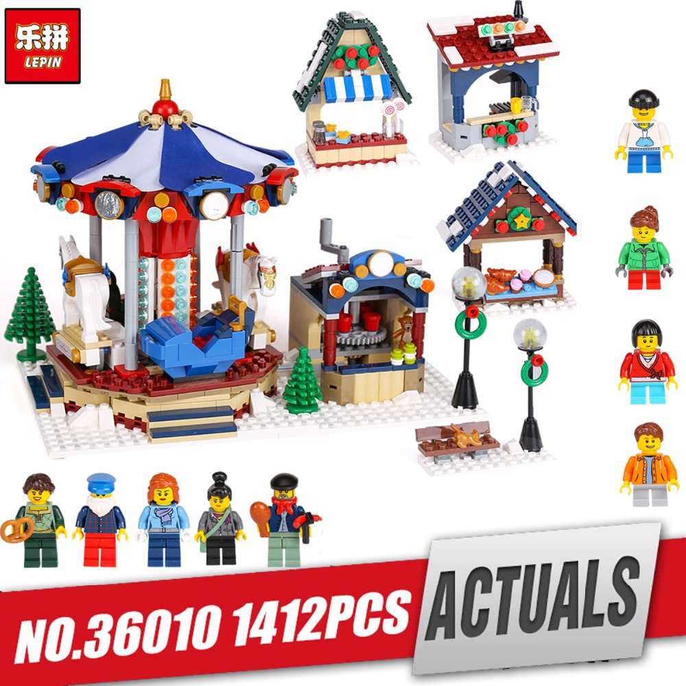 Lepin 36010 Genuine Creative Series The Winter Village Market Set legoing 10235 Building Blocks Bricks Educational Toys As Gift lepin 36010 genuine creative series the winter village market set legoing 10235 building blocks bricks educational toys as gift