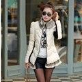 Vuelos baratos de china al por mayor 2017 otoño invierno nueva venta caliente de las mujeres de moda casual mostrar delgada mantener cálida chaqueta de algodón acolchado