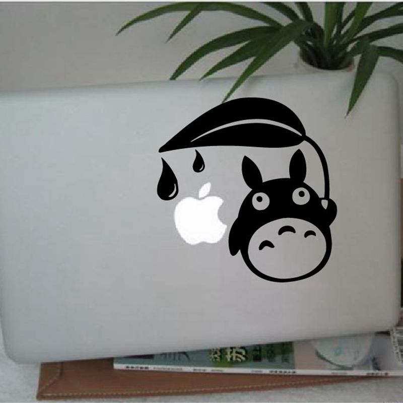 Cute Totoro Wall Decals Japanese Cartoon Inspired Totoro Vinyl Wall Sticker For Macbook Air/ Laptop / Car Window Decoration