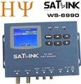Venta caliente original satlink ws-6990 1 ruta ws6990 av modulador dvb-t hd satélites del buscador del metro metro